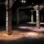"Magdalena Atria, ""Cenotes"", 2013, Painting, plasticine on floor, Variable dimensions, Site specific project. Location: Matadero, Madrid, Spain. Photo credit: Matadero Madrid"