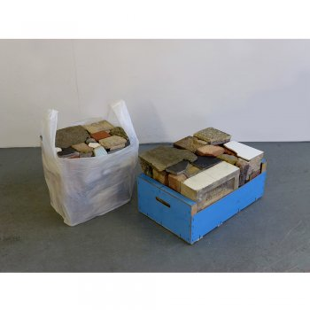 "Martin Cordiano, ""Untitled ( Rubble)"", 2013. Sculpture. Rubble, carrier  bag, fruit box. Dimensions variable. Photo Credit  Courtesy of the artist. 51f1cfd084"